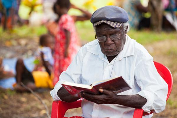 Reading his language